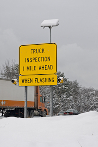 truck inspection sign