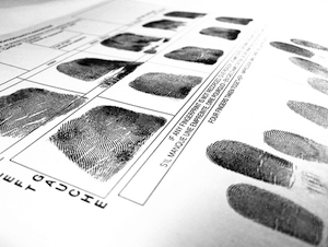 Fingerprint record sheet