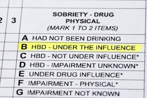 DUI Official Report
